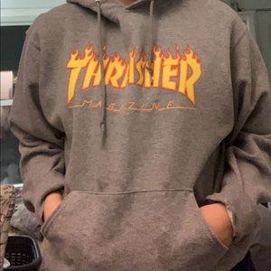 Thrasher Oversized Grey Sweater